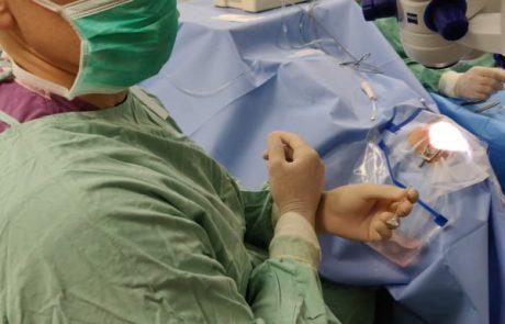 שתל מתקדם לטיפול בלחץ התוך עיני ביחידת הגלאוקומה במרכז הרפואי שמיר אסף הרופא