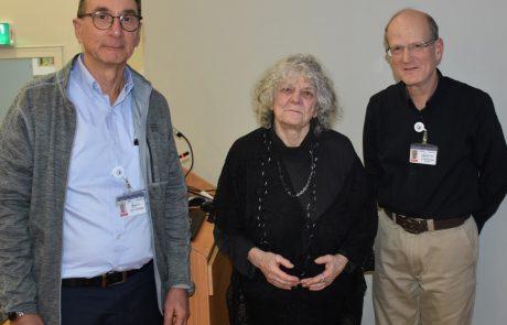 פרופ' עדה יונת ביקרה במרכז הרפואי פדה-פוריה