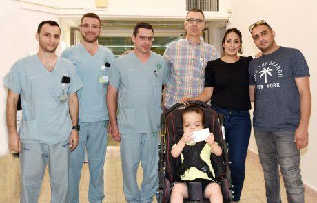 """בן השש סבל מדום נשימה כרוני בזמן השינה – בביה""""ח סורוקה ביצעו ניתוח מציל חיים"""